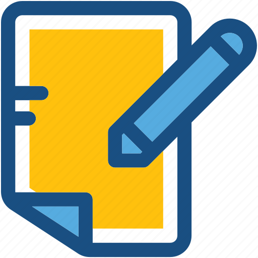 Content writing, document, note, pen, writing icon - Download on Iconfinder