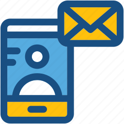 email, message, mobile communication, video call, video conference icon