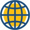 earth grid, globe, international, planet, worldwide icon