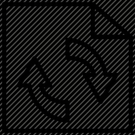 consistency, data, process, synchronization icon