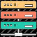 data storage, database, datacenter, dataserver network, sql icon