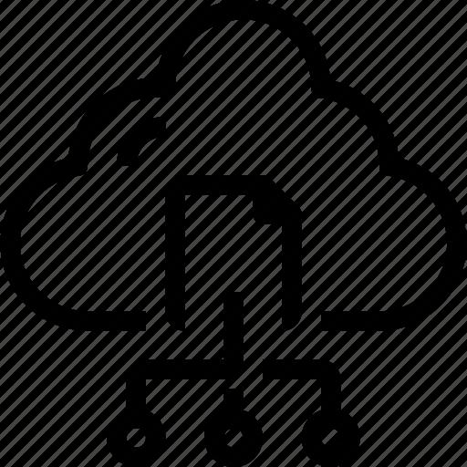 cloud, data, database, file, network, sharing, storage icon