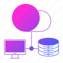 cloud, computer, data, database, hosting, network, server icon