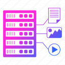 data, equipment, file, format, hosting, network icon