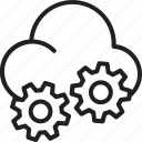 cloud, gear, mechanics, tool icon icon