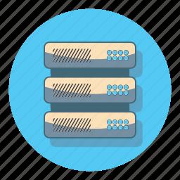 data, information, network, office, storage icon