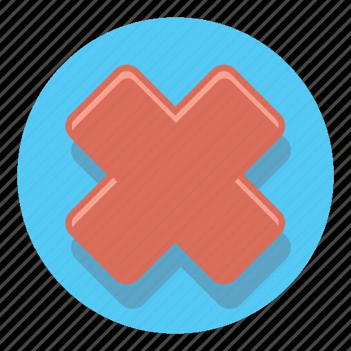 cross, delete, document, remove icon