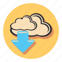 claud, database, download, storage icon