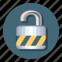 lock, open, files, folder, padlock, unlock