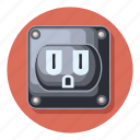 charge, charging, electric, in, plug, power icon