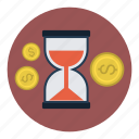 finance, saving, savings, time, timer icon