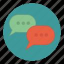 bubbles, communication, conversation, sms, speech icon