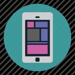 application, communication, design, device, mobile icon