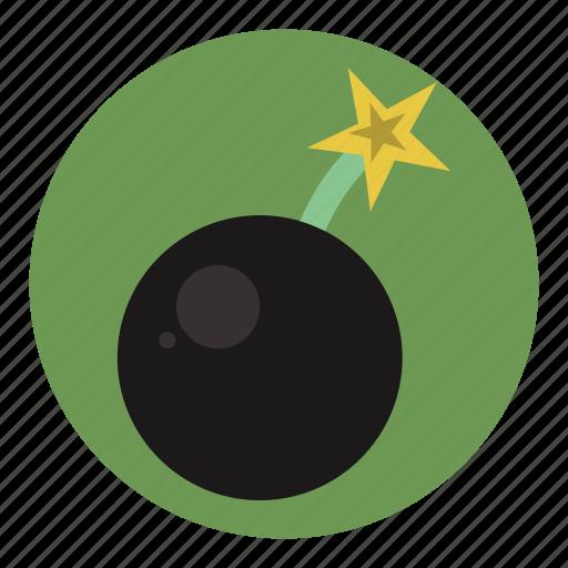 bomb, danger, explosion, explosive, hazard icon