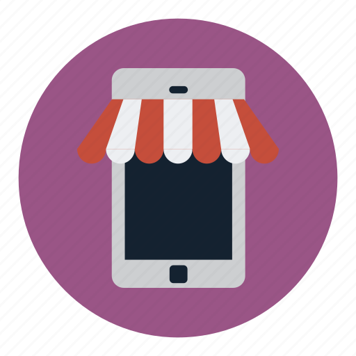 device, internet, mobile, shop, store, technology icon