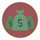 bags, bank, cash, financial, money, payment icon