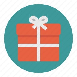 box, christmas, gift, ribbon icon
