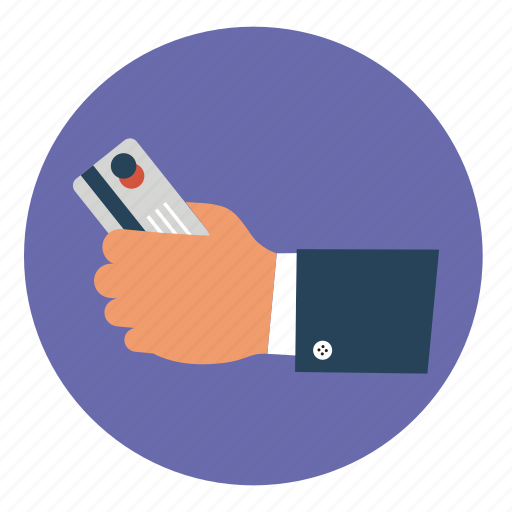 card, credit, finance, finger, hand, internet, online icon