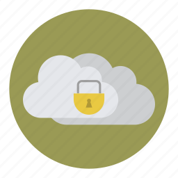 clouds, password, protection, secure, security icon