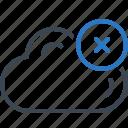 cloud, computing, database, delete icon