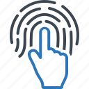 biometric, finger, identity, print icon