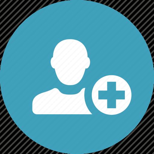add, contact, create, friend, new, user icon