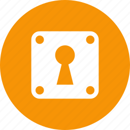 keyhole, lock, privacy, private, safety, secret, secure icon