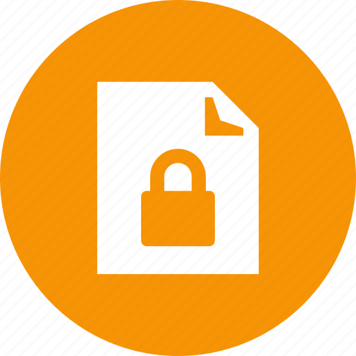 doc, document, lock, locked, page, safe, unavailable icon