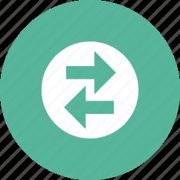 arrows, direction, horizontal, network, transfer icon