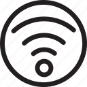 circle, computer, connection, network, wifi, wireless icon