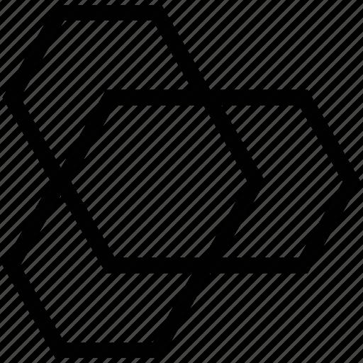 eco cells, hexagonal shape, hexagons, polygon shape icon