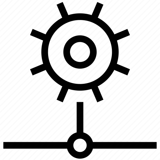 cogwheel on network, gear network, gear wheel network icon