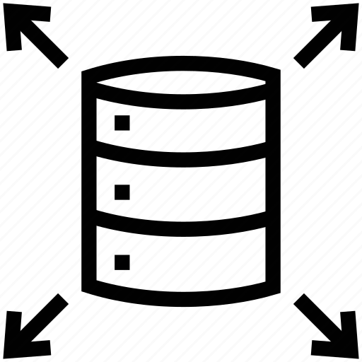 data bank, database, database interlinked, network, record icon
