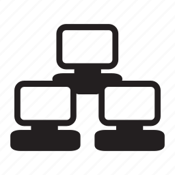 computers, network, sharing, technology icon