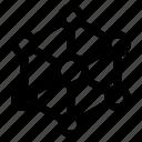 computer, hexagon, internet, network, technology icon