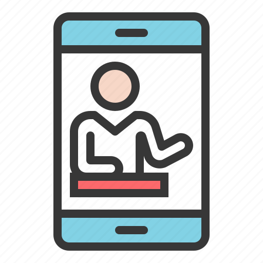 Cellphone, communication, network, people, smartphone, webinar icon