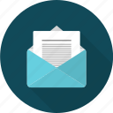 communication, mail, opened, network, opened mail icon