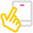 gesture, hand, mobile, tap, touch icon icon
