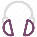 commenunation, head, headset, music, person, sound icon icon