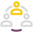 collaboration, group, people, team, users icon icon
