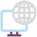 globe, internet, monitor, network icon icon