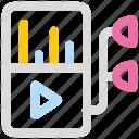 apple, audio, ipod, mp3, multimedia, music icon icon