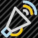advertise, marketing, megaphone, promote, speaker icon icon