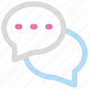 bubbles, chat, conversation, talk icon icon