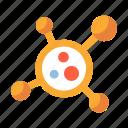 atom, cell, digital, germ, malware, technology, virus icon