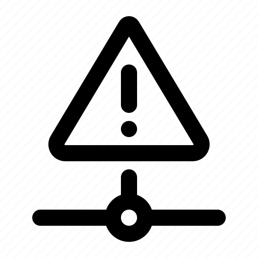 alert, caution, connection, error, network, warning icon