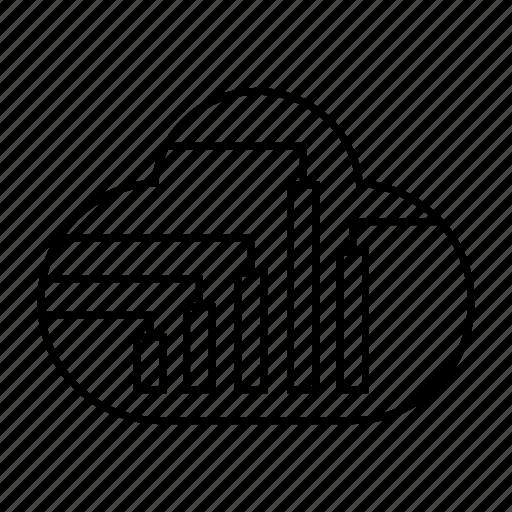 cloud computing, cloud data, cloud stats, hosting, network, server icon