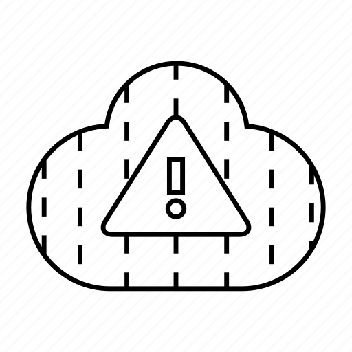 cloud, cloud computing, error, internet, network, warning icon