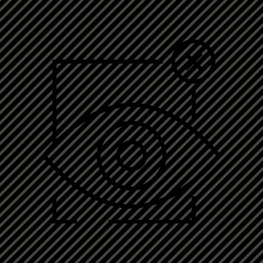 eye scan, iris scan, lock, protect, security, warning icon