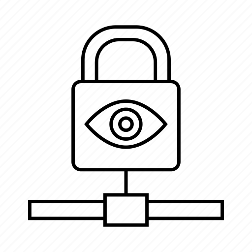 eye scan, key, lock, protect, security icon